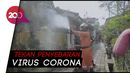 Pusat Kota Surabaya Disemprot Disinfektan Pakai Drone