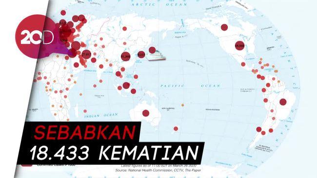 Update Global: Corona Infeksi 413.467 Orang di 196 Negara