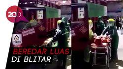 Viral Petugas Pakai APD Evakuasi Karyawan Agen Gas LPG di Blitar