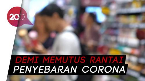 Imbas Corona, Sejumlah Toko Besar di Mal Tutup Sementara