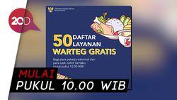Dear Ojol dan Pekerja Informal, Ada 50 Warteg Sediakan Makan Gratis