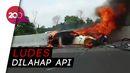 Mobil Sport Wakil Jaksa Agung Terbakar di Tol Cibubur