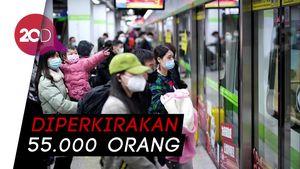 Video Ribuan Warga Tinggalkan Wuhan Usai Lockdown Dicabut