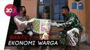 TNI-Polri Bagikan Sembako ke Warga Rentan Terdampak Corona di Wonogiri