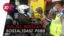 PSBB Jakarta Berlaku, Polisi Sikat Pemotor Berboncengan