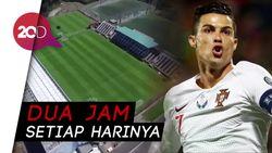 Pandemi Corona, Ronaldo Latihan Eksklusif di Stadion Madeira