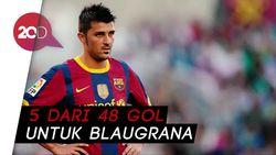 Lihat Nih! 5 Gol Terbaik David Villa di Barcelona