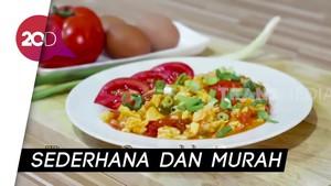 Menu Sahur Simple: Masak Tomato Scramble Egg
