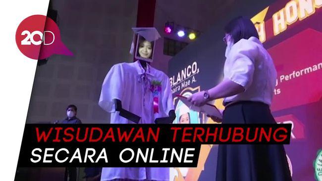 Keren! Wisudawan di Filipina Diwakili Robot untuk Hindari Corona
