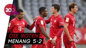 Drama 7 Gol saat Bayern Kalahkan Frankfurt