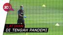 Pakai Masker, Pep Guardiola Pimpin Latihan Skuad The Citizen
