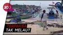 Gelombang Tinggi Bikin Kapal Nelayan di Sukabumi Rusak Parah