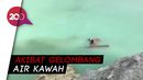 Aksi Heroik Pria Evakuasi Jenazah Temannya di Danau Kawah Ijen