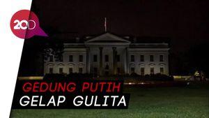 Detik-detik Lampu Gedung Putih Dimatikan Saat Digeruduk Pendemo