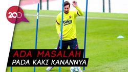 Duh... Messi Cedera Saat Latihan
