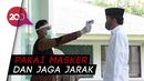 Momen Jokowi Salat Jumat di Istana Pakai Protokol Kesehatan