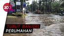 Akses Jalan Raya Pluit Masih Tergenang Banjir Rob
