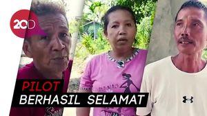 Cerita Warga Berjibaku Tolong Pilot Pesawat TNI AU yang Jatuh di Riau