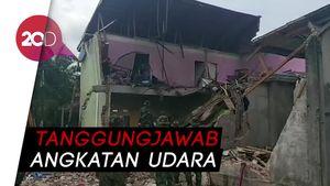 TNI AU Bakal Ganti Rumah yang Rusak Akibat Pesawat Jatuh di Riau