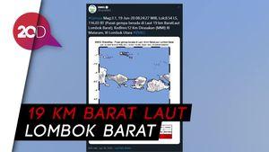 Gempa M 3,1 Guncang Lombok Barat