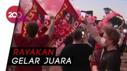 Fans Liverpool Rayakan Juara Liga Inggris di Tengah Corona