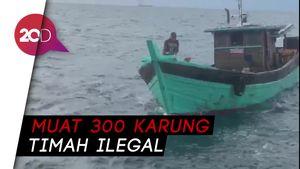 Terciduk! Kapal Timah Ilegal Beroperasi di Perairan Natuna