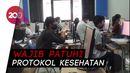UTBK di UNJ, Peserta Pakai Sarung Tangan-Face Shield