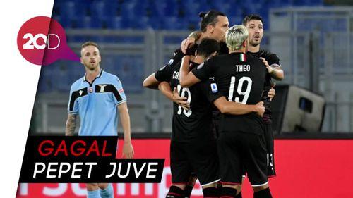 Lazio Kalah 0-3 dari Milan di Olimpico