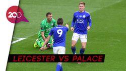 Vardy Brace, Leicester Menang 3-0 Atas Crystal Palace