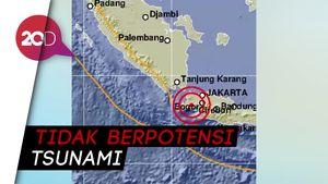 Gempa M 5,4 di Banten, Terasa Hingga ke Jakarta