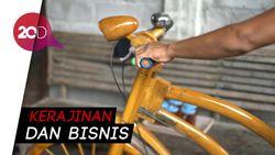 Keren! Sepeda Berbahan Kayu Bekas Buatan Warga Sukoharjo