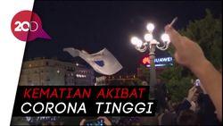 Ribuan Warga Serbia Protes Kebijakan Lockdown Diterapkan Lagi