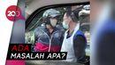 Pemotor Vs Sopir Ambulans Cekcok di Depok