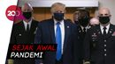 Trump Pertama Kali Pakai Masker di Depan Publik
