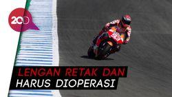 Momen Marc Marquez Terpelanting-Terguling di MotoGP Spanyol