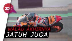 Sebelum Jatuh, Marquez Ngegas dari Posisi 18 ke Posisi 3 di MotoGP Spanyol