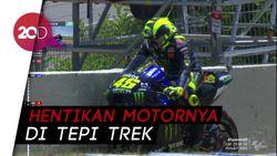 Rossi Tiba-tiba Berhenti di MotoGP Spanyol, Kenapa?