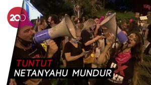 Meriah Bak Suporter Bola, Warga Israel Demo Netanyahu
