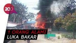 Truk Tangki BBM Terbakar di Medan