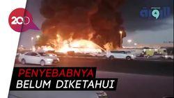 Kobaran Api Melahap Pasar Ajman di Uni Emirat Arab