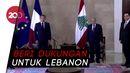 Tiba di Beirut, Presiden Prancis Temui Presiden-PM Lebanon