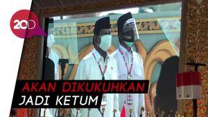 Bermasker, Prabowo Hadiri Kongres Gerindra di Hambalang