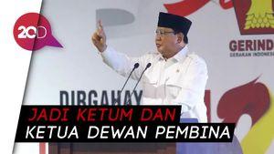 Sah! Prabowo Resmi Pimpin Gerindra Lagi