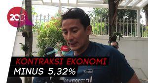 Bersepeda Bareng, Mendag-Sandiaga Bicarakan Kontraksi Ekonomi RI