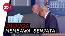 Kehebohan di Jumpa Pers Trump, Pengawal Tembak Seorang Tak Dikenal