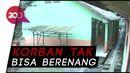 Rekaman CCTV Santri di Sukabumi Saat Terseret Arus Sungai