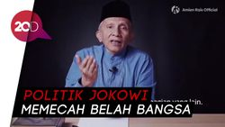 Kritik Pedas Demokrasi Era Jokowi, Amien Rais Singgung Aksi 411
