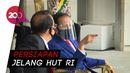 Jokowi Saksikan Geladi Upacara HUT RI Pakai Masker-Face Shield