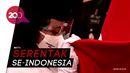 Momen Jokowi Kukuhkan Delapan Anggota Paskibraka Nasional