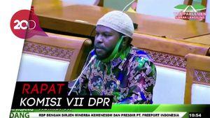 Momen Anggota DPR Gebrak Meja Saat Pembahasan Freeport